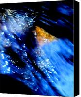 Abstract Expressionist Mixed Media Canvas Prints - Meteor Shower Canvas Print by Terril Heilman
