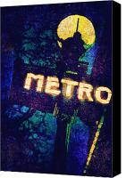 Gleam Canvas Prints - Metro Canvas Print by Skip Nall