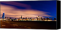 Skyline Canvas Prints - Metropolitan Blues Canvas Print by Daniel Chen
