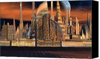 Cities Of The Future In The Year 2498 Canvas Prints - Metropolitan Opera NYC Canvas Print by H G Mielke