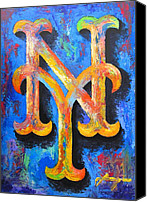 New York Mets Canvas Prints - METS Portrait Canvas Print by Dan Haraga