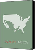 Mexico Canvas Prints - Mexican America Poster Canvas Print by Irina  March
