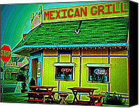 Grill Canvas Prints - Mexican Grill Canvas Print by Chris Berry