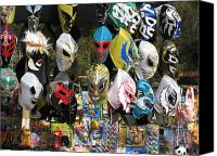 Mexican Fighters Canvas Prints - Mexican Masks Canvas Print by Stav Stavit Zagron