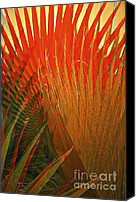 On Fire Canvas Prints - Mexican Palm Canvas Print by Gwyn Newcombe