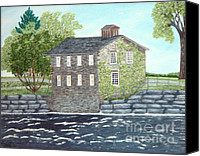 Old Mills Canvas Prints - Meyers Mill Canvas Print by Peggy Holcroft