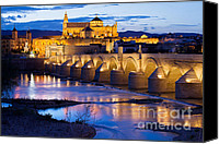 Great Mosque Canvas Prints - Mezquita and Roman Bridge in Cordoba Canvas Print by Artur Bogacki