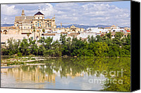 Great Mosque Canvas Prints - Mezquita Cathedral by the River in Cordoba Canvas Print by Artur Bogacki