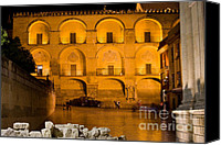 Great Mosque Canvas Prints - Mezquita Facade at Night Canvas Print by Artur Bogacki