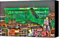 Heart Plaza Canvas Prints - MGM Grand Las Vegas Canvas Print by Nicholas  Grunas