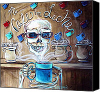 Ghosts Canvas Prints - Mi Cafe con Leche Canvas Print by Heather Calderon