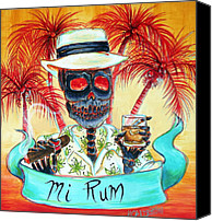 Cuba Painting Canvas Prints - Mi Rum Canvas Print by Heather Calderon