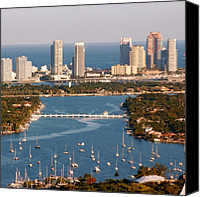 Beach Canvas Prints - Miami Beach Star Island Canvas Print by Joel Lopez