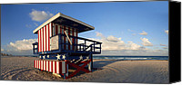 Watchtower Canvas Prints - Miami Beach Watchtower Canvas Print by Melanie Viola