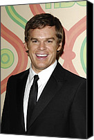 Golden Globe Canvas Prints - Michael C. Hall At Arrivals For Hbo Canvas Print by Everett