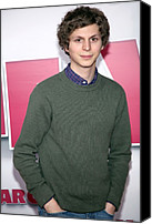 At Arrivals Canvas Prints - Michael Cera At Arrivals For Year One Canvas Print by Everett