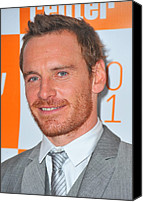 Alice Tully Hall At Lincoln Center Canvas Prints - Michael Fassbender At Arrivals Canvas Print by Everett
