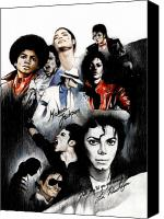 Artist Canvas Prints - Michael Jackson - King of Pop Canvas Print by Lin Petershagen