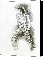 Most Liked Canvas Prints - Michael Jackson - Onstage Canvas Print by David Lloyd Glover