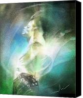 Rock And Roll Canvas Prints - Michael Jackson 15 Canvas Print by Miki De Goodaboom