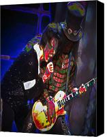 Slash Canvas Prints - Michael Jackson and Slash Canvas Print by Byron Fli Walker