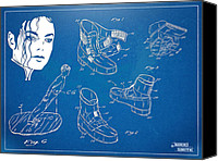 Fantasy Canvas Prints - Michael Jackson Anti-Gravity Shoe Patent Artwork Canvas Print by Nikki Marie Smith