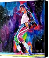 Featured Painting Canvas Prints - Michael Jackson Dance Canvas Print by David Lloyd Glover