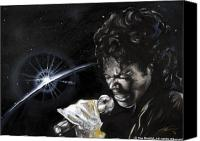 Singer Painting Canvas Prints - Michael Jackson Canvas Print by Keith  Thurman