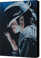 Art For Sale Painting Canvas Prints - Michael Jackson Canvas Print by Mikayla Henderson