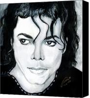 Celeb Canvas Prints - Michael Jackson Portrait Canvas Print by Alban Dizdari