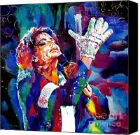 Glove Painting Canvas Prints - Michael Jackson Sings Canvas Print by David Lloyd Glover