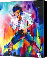 Canvas Greeting Cards Canvas Prints - Michael Jackson Wind Canvas Print by David Lloyd Glover