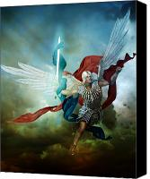 Angel Canvas Prints - Michael Canvas Print by Karen Koski