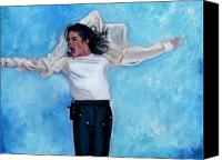 Singer Painting Canvas Prints - Michael Canvas Print by Vel Verrept