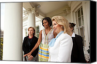 First Ladies Canvas Prints - Michelle Obama Hosts First Lady Canvas Print by Everett