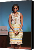Michelle Obama Photo Canvas Prints - Michelle Obama In Attendance For Lady Canvas Print by Everett