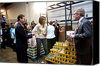 Michelle Obama Canvas Prints - Michelle Obama Volunteers For Feeding Canvas Print by Everett