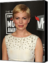 Michelle Canvas Prints - Michelle Williams At Arrivals For 16th Canvas Print by Everett