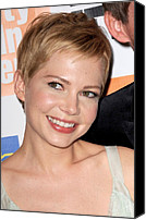 Alice Tully Hall At Lincoln Center Canvas Prints - Michelle Williams At Arrivals For My Canvas Print by Everett