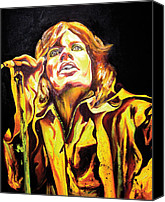 The Rolling Stones Canvas Prints - Mick Canvas Print by Jacqueline DelBrocco