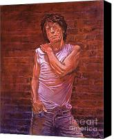 Singer Painting Canvas Prints - Mick Jagger Canvas Print by David Lloyd Glover