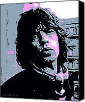 The Rolling Stones Canvas Prints - Mick Jagger in London Canvas Print by David Lloyd Glover