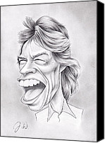 The Rolling Stones Canvas Prints - Mick Jagger Canvas Print by Jamie Warkentin