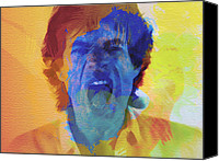 Boss Digital Art Canvas Prints - Mick Jagger Canvas Print by Irina  March