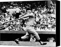  New York Yankees Canvas Prints - Mickey Mantle (1931-1995) Canvas Print by Granger