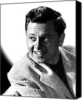 Publicity Shot Canvas Prints - Mickey Rooney, Mgm, Ca. Late 1940s Canvas Print by Everett