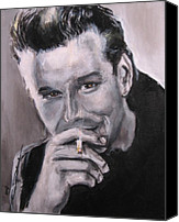 Dean Canvas Prints - Mickey Rourke Canvas Print by Eric Dee