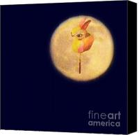 Hong Kong Canvas Prints - Mid Autumn Festival Greeting card Canvas Print by Kathy Daxon