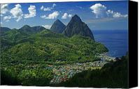 Williams Canvas Prints - Midday- Pitons- St Lucia Canvas Print by Chester Williams