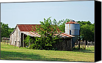 Feed Mill Canvas Prints - Middle Barn Canvas Print by Lisa Moore